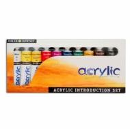 Acrylic Paint Set Daler Rowney Acrylic 10 Colours * 38 Ml