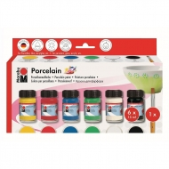 Marabu set Porcelain 6 * 15 ml