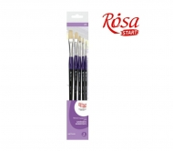 Brush set bristle  5 pcs flat with long handle
