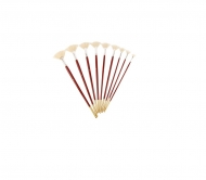Brush fan bristle  Rosa 6007 № 0 long handle