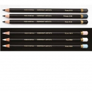 DWT pencils Artist tin of 6 Black and White