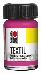 Fabric Paint for Light Coloured Textiles (Washing Machine Resistant) Marabu Textil - Pink