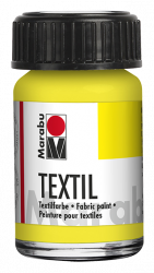 Fabric Paint for Light Coloured Textiles (Washing Machine Resistant) Marabu Textil - Lemon