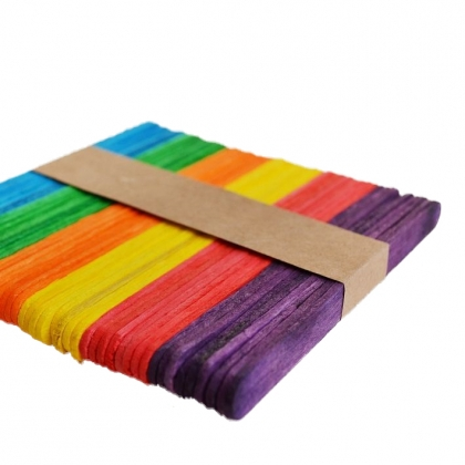 Coloured Lollipop Sticks 10 x 150 mm 50 pcs