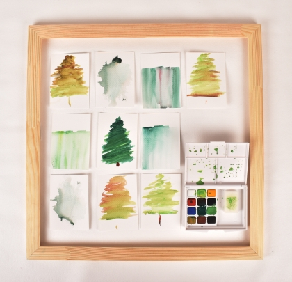 Watercolour set with cards
