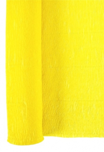 Yellow Crepe Paper Roll 50 x 250 cm Heyda