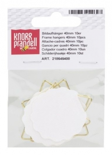 Adhesive Plate and Picture Hanger : 40 mm : Pack of 10
