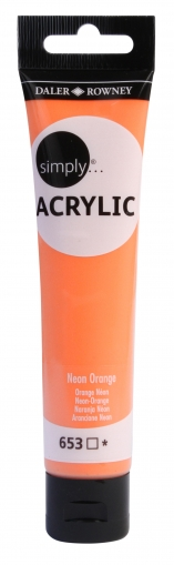 Neon Orange Acrylic Paint Daler Rowney Simply