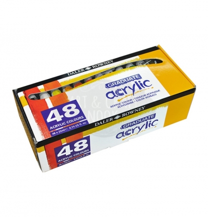 Acrylic Paint Set Daler Rowney Acrylic 24 Colours * 22 Ml