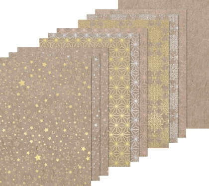 Embossed Paper Pad : Heyda : 220 g : 12 Sheets : А4 : Starshine