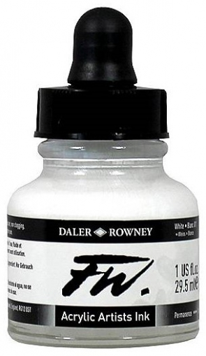 Бял Акрилен Туш (Мастило) Daler Rowney FW Ink 29.5 ml