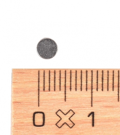 N33 Neodymium Disc Magnet 1.5 mm height, 4 mm diameter