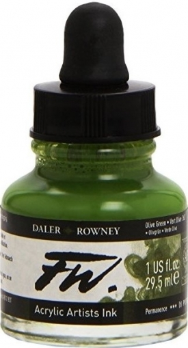 Acrylic Ink Daler-Rowney 29.5 ml - Olive Green