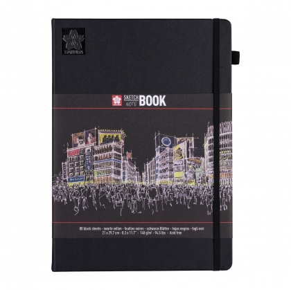 Sakura Sketch/note Book with Black Paper :140 gsm : 80 Sheets : 21 x 30 (A4)