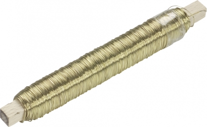 Knorr Prandell : Craft Binding Wire : Diameter 0.50 mm : Length 50 m : Gold