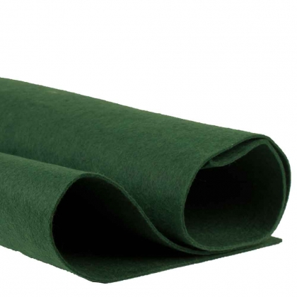 Large Thick Polyester Felt Sheet : 3 mm : 85 x 100 cm : Green