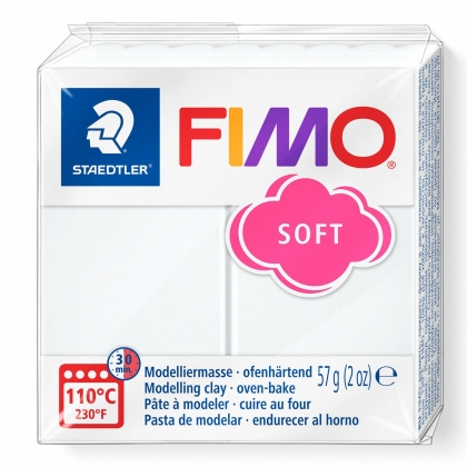 Polymer Clay Fimo Soft : 0 : White