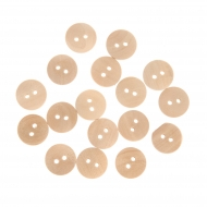Buttons natural  15 mm 50 pcs - in box cube