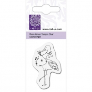 KPC stamp clear 1028, Stork with Baby, 5*6cm