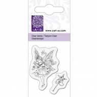 KPC stamp clear 1056, Elf with wand, 5*6cm