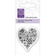 Clear Stamp Knorr Prandell 5 x 6 cm Heart with Flowers