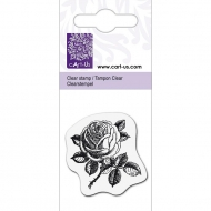 KPC stamp clear 1076, small rose 1, 4 x 4 cm
