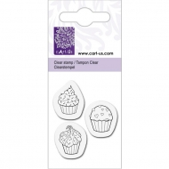 KPC stamp clear 2008, 3 cupcakes, 5*6cm