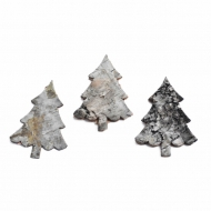 Craft Birch Bark Tree Shaped Cut Outs : Height 8 cm : Pack of 6