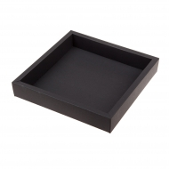 Box Made From a 250 gsm Matt Black Board 22 x 22 x 4 cm