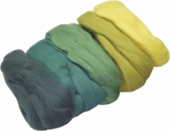Extra Fine Felt Knorr Prandell 5 colours x 10 gr Green/Yellow