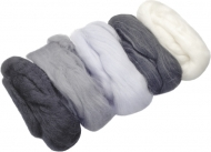 Knorr Prandell : Merino Wool : 5 colours x 10 gr : Black, Grey and White