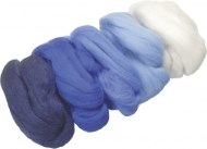 Knorr Prandell : Merino Wool : 5 colours x 10 gr : White and Blue
