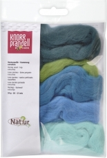 Knorr Prandell : Merino Wool : 5 colours x 10 gr : Blue and Green