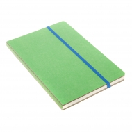 notebook A5 with elastic lime