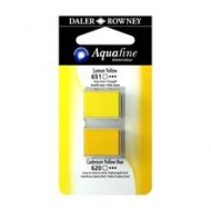 Half Pan Watercolour Daler Rowney Aquafine Set of 2 - Yellow Lemon/Cadmium Yellow