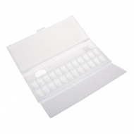 Empty Plastic Watercolour Box : Holds 48 Half Pans or 24 Full Pans : With Fold-Out Palette