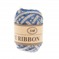 Jute Ribbon 5 mm, 5 m Blue