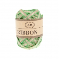 Jute Ribbon 5 mm, 5 m Green