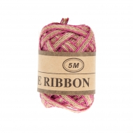 Jute Ribbon 5 mm, 5 m Pink