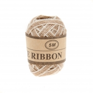 Jute Ribbon  5 mm, 5 m White