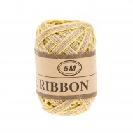Jute Ribbon 5 mm, 5 m Yellow