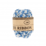 Jute Ribbon 7 mm, 3 m 2 Blue