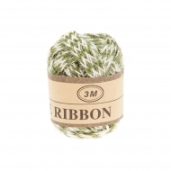 Jute Ribbon 7 mm, 3 m Green