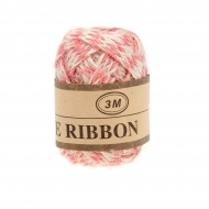 Jute Ribbon 7 mm, 3 m Pink