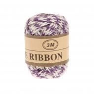 Jute Ribbon 7 mm, 3 m Purple
