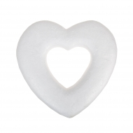Polystyrene Heart Wreath 26 cm