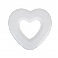 Polystyrene Heart Wreath 28 cm