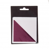 "Shiny (""Mirror"") Metal Leaf 80*85 mm 10 sheets, pink"