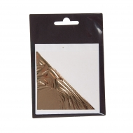 "Shiny (""Mirror"") Metal Leaf 80*85 mm 10 sheets, gold"