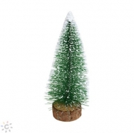 Mini Christmas Bottle Brush Frosted Tree 25 cm